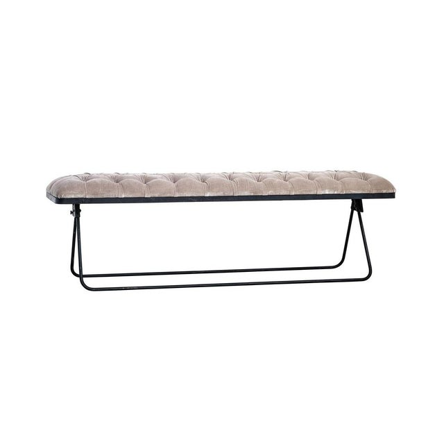American Classic Velvet Fabric Bench For Sale - Image 3 of 4
