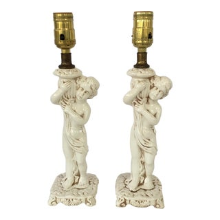 Vintage Italian Figural Lamps - A Pair For Sale