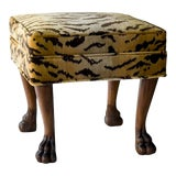 Image of Scalamandre for vanCollier Rory Ottoman For Sale
