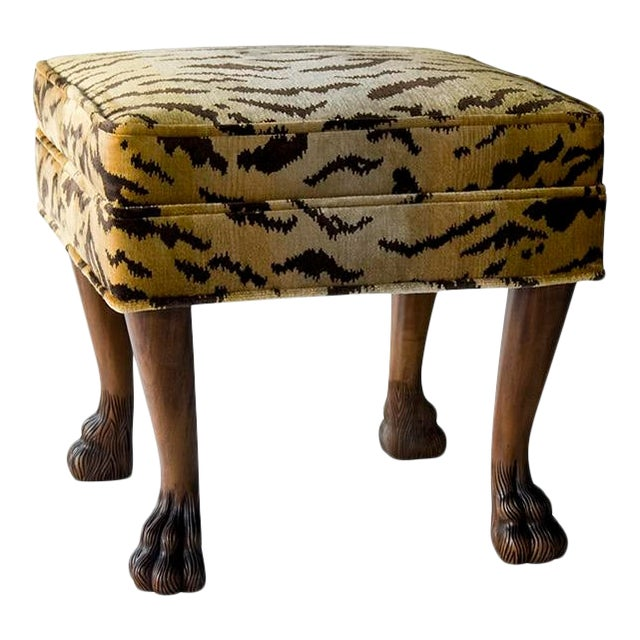 Scalamandre for vanCollier Rory Ottoman For Sale