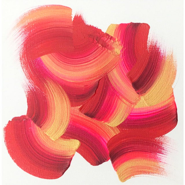 """Original Abstract """"Color Study #2"""" Painting - Image 2 of 3"""