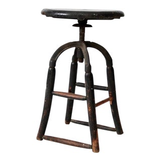 Antique Industrial Stool For Sale