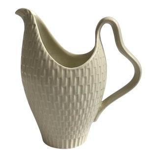 Small Cream Ceramic Pitcher