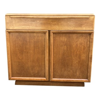 Mid-Century Compact Walnut Sideboard For Sale