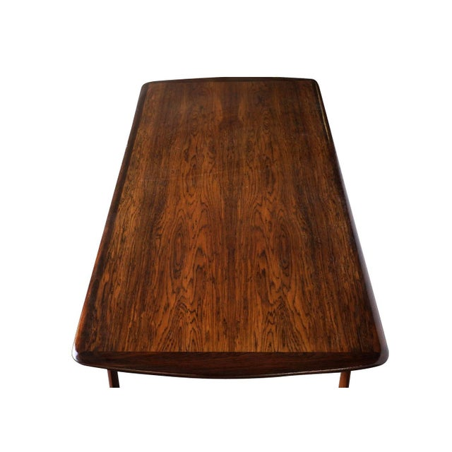 Stunning Teak And Chrome Contemporary Small Coffee Table: Large Danish Modern Teak Coffee Table