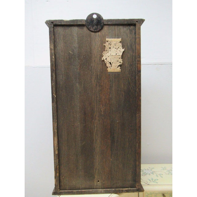 Antique American Classical Style Oak Time Recorder Clock For Sale - Image 5 of 7