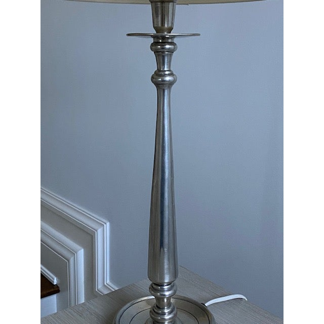 Antique Silver Milano Lamp For Sale - Image 9 of 10