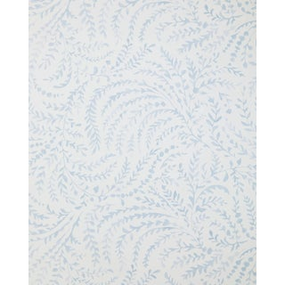 Contemporary Double Roll Serena & Lily Priano Sky Blue Wallpaper For Sale
