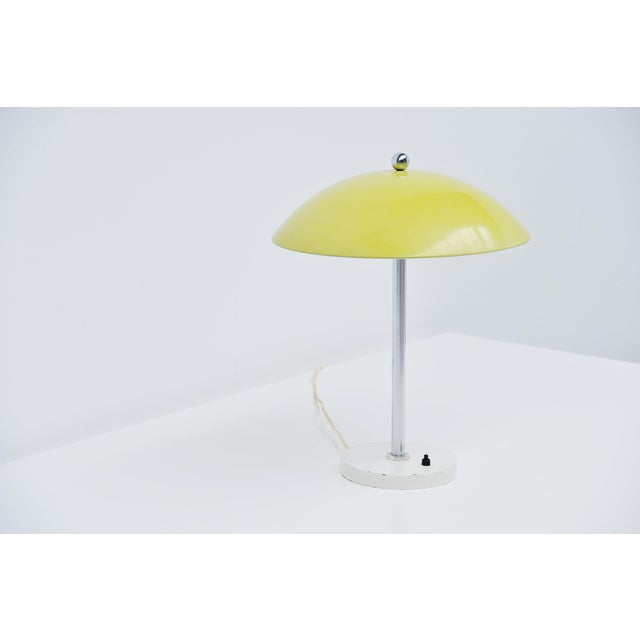 1950s Wim Rietveld Yellow Mushroom Table Lamp by Gispen, 1950 For Sale - Image 5 of 7