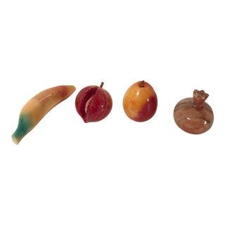 Vintage Stone Marble Fruit - Set of 4 For Sale