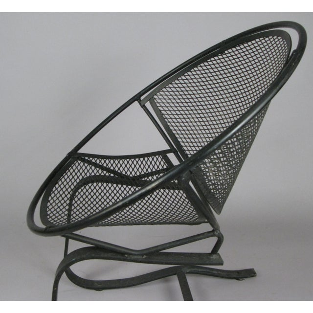 1950s Wrought Iron Radar Lounge Chairs by Salterini, Circa 1950 - a Pair For Sale - Image 5 of 8