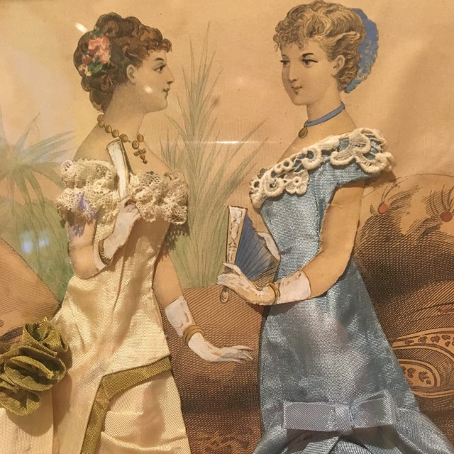 Victorian 19th Century French Fashion Diorama/La Mode Francaise Illustration For Sale - Image 3 of 10