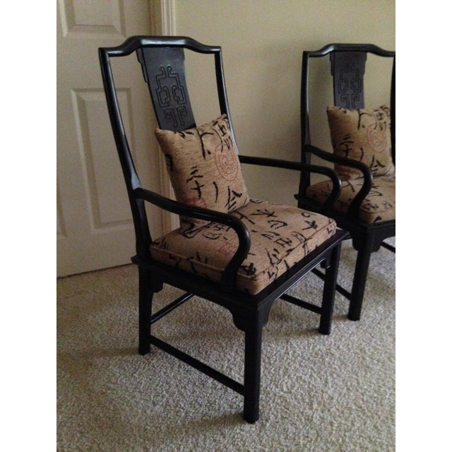 Century Furniture 1970s Vintage Century Furniture Co Chin Hua Dining Armchairs- A Pair For Sale - Image 4 of 6