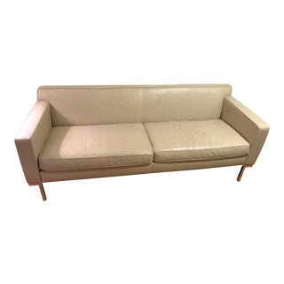 Design Within Reach Leather Theater Sofa