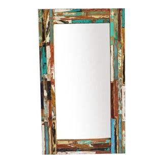 Reclaimed Boat Wood Mirror
