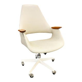 Rare Rolling Office Chair Designed by Arthur Umanoff For Sale