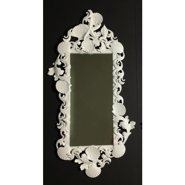 White Sea Shell Mirror For Sale - Image 9 of 10