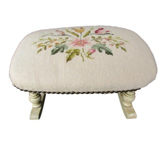 Rocking Needlepoint Footstool