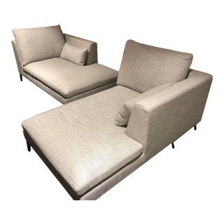 Modern New Camerich Alison Chaise Lounges- A Pair For Sale