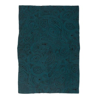 """Malachite Cashmere Blanket, Teal, 51"""" x 71"""" For Sale"""