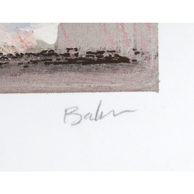 Artist: Lynn Elton Baker, American Title: Abstract Composition Year: circa 1990 Medium: Serigraph, signed and numbered in...