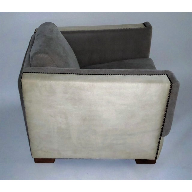 Streamline Moderne Lounge Chair 1940s For Sale - Image 4 of 11