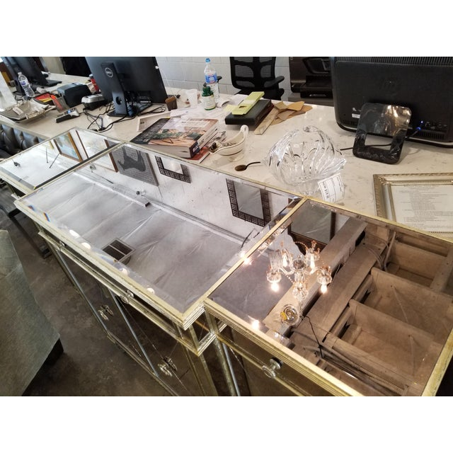 Z-Gallerie Borghese Mirrored Buffet For Sale - Image 4 of 10