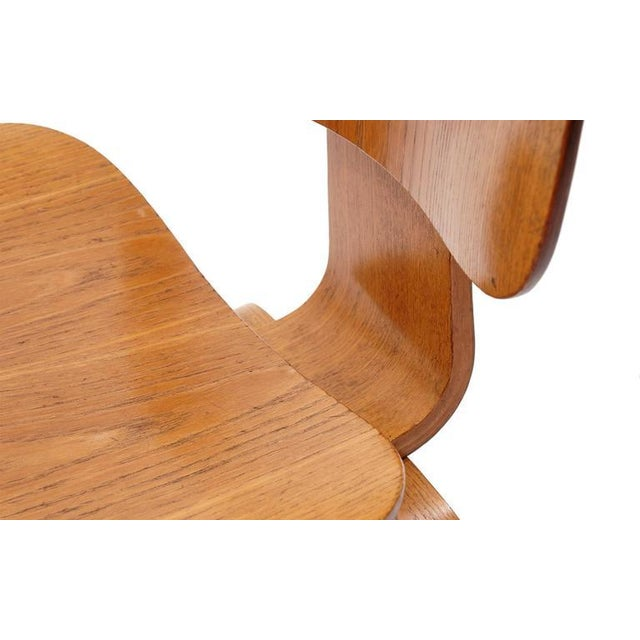 Brown Set of Four Vintage Eames DCWS Add Our Red Eames Dining Chairs to Make Six For Sale - Image 8 of 10
