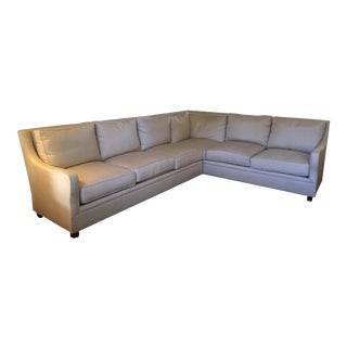 Traditional Ferguson Copeland Ltd. Large Two Piece Tan Sectional Sofa For Sale