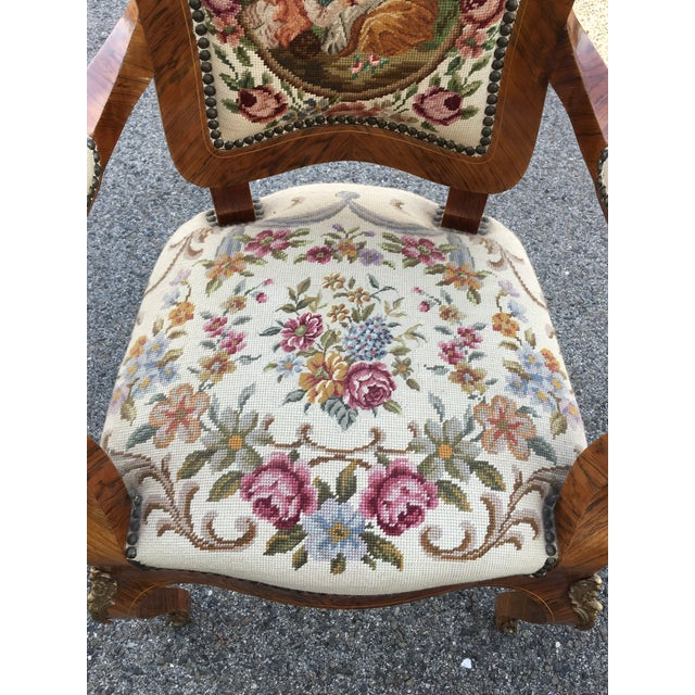 French 1900s Antique Accent Chair For Sale - Image 3 of 8