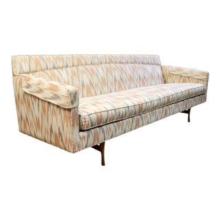 Mid Century Modern Vintage Paul McCobb Flame Stitch Sofa Wood Base 1960s For Sale