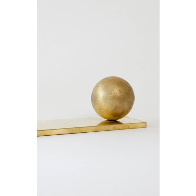 Orphan Work Modern Contemporary 003 Incense Rest Sage in Brass by Orphan Work For Sale - Image 4 of 7