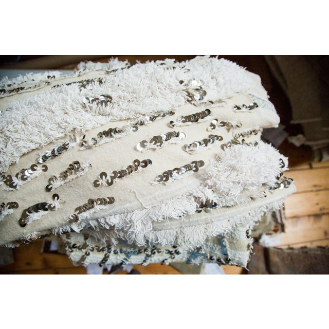 "Vintage Wedding Blanket Rug - 3'8"" x 6'7"" - Image 4 of 6"