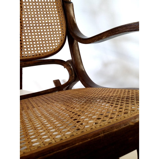 Thonet-Style Cane & Bentwood Rocker For Sale - Image 7 of 10
