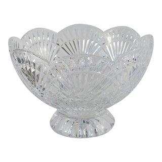 Scalloped Edge Glass Serving Bowl