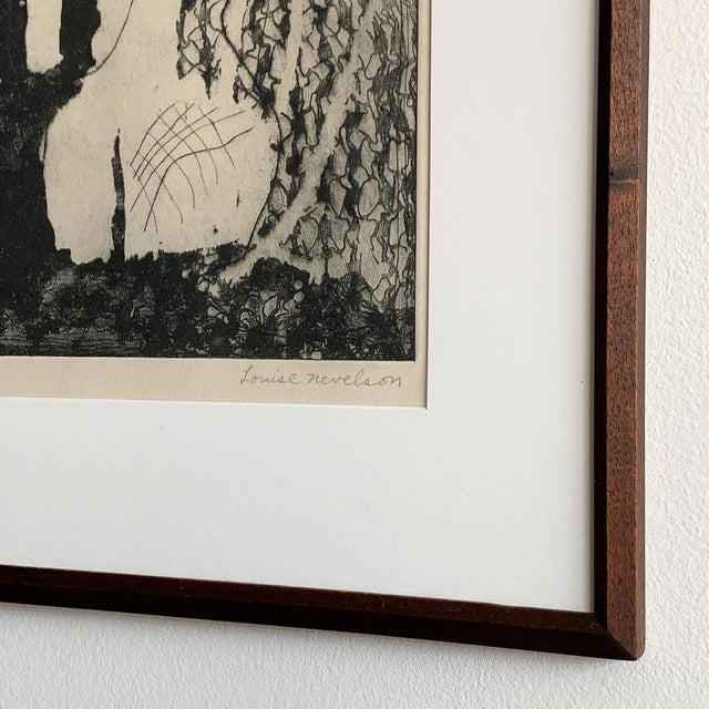 "Louise Nevelson Louise Nevelson Framed Etching ""The Search"", 1953-1955 For Sale - Image 4 of 8"