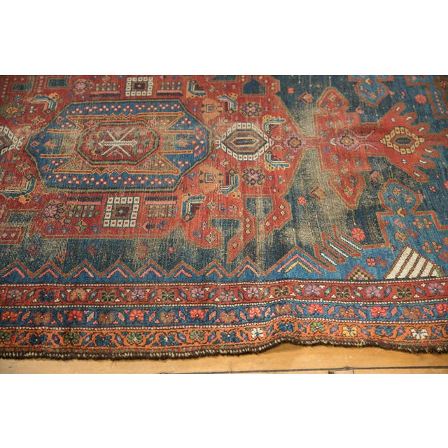 """Country Antique Hamadan Rug - 4'9"""" X 7'11"""" For Sale - Image 3 of 13"""