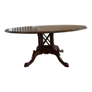 Drexel Heritage Leather Top Dining Table