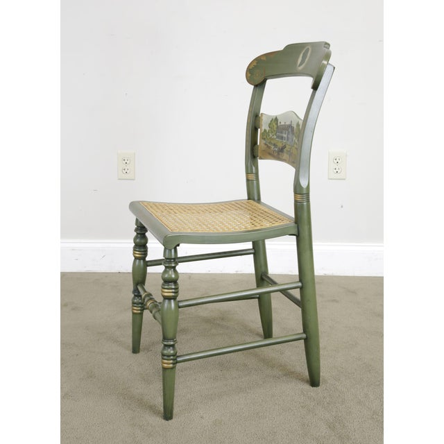 """Hitchcock """"The Adam's Old House"""" Green Painted Side Chair For Sale In Philadelphia - Image 6 of 13"""