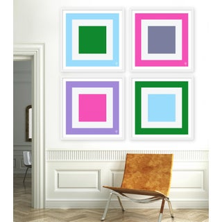 """Large """"Squared, Set of 4"""" Print by Wendy Concannon, 50"""" X 50"""" Preview"""