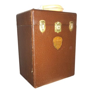 Cinema Projection Equipment Carry Case Box Circa 1940s For Sale