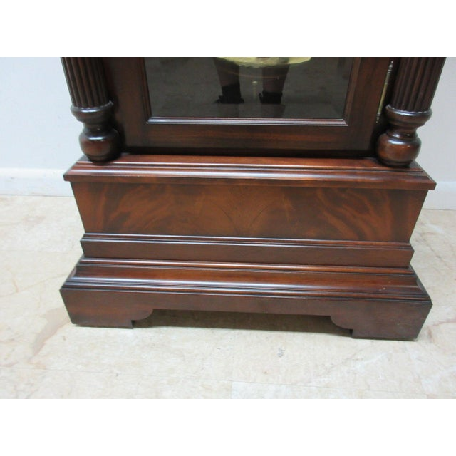 Cherry Flame Mahogany Broken Arch Grand Fathers Clock For Sale - Image 9 of 10