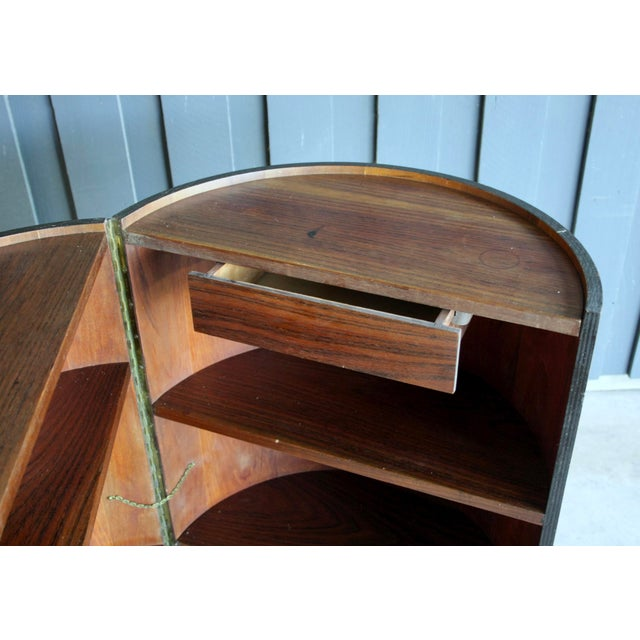 Rosewood Rosewood Handmade Bar Cabinet on Casters Attr. To Henry Glass For Sale - Image 7 of 13
