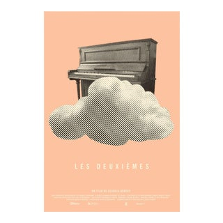 2016 Contemporary Film Poster, Les Deuxiemes (Pink and Cloud)