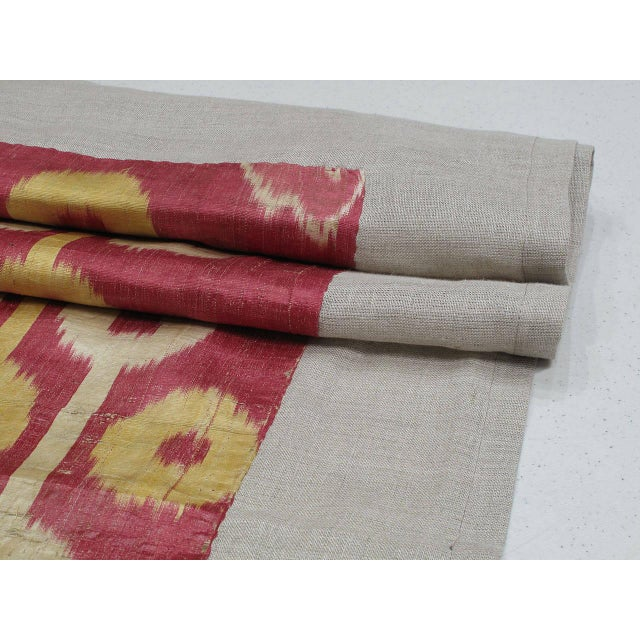 Silk Antique Silk Ikat Panel For Sale - Image 7 of 7