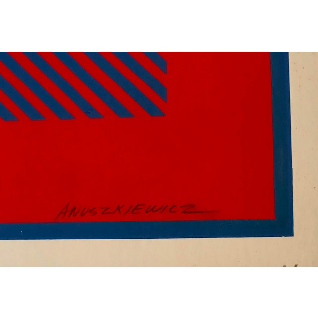 Richard Anuszkiewicz 1970s Op Art signed by artist