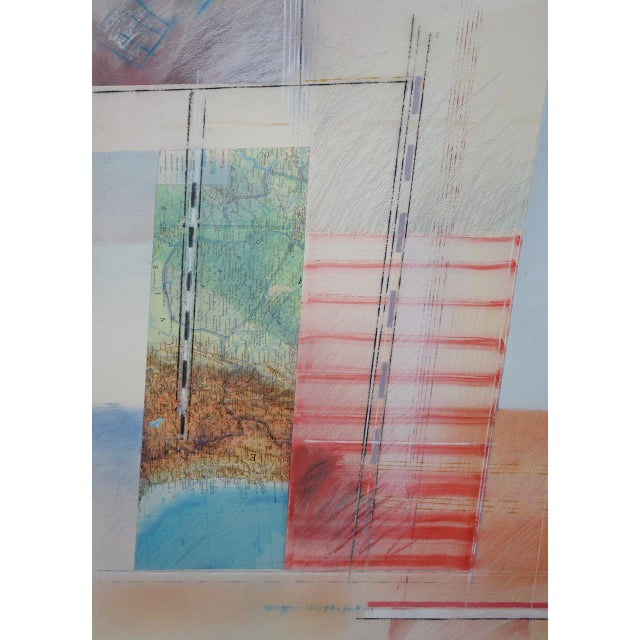 Abstract Mixed Media Painting by Fuentes, 20th C. For Sale In San Francisco - Image 6 of 11
