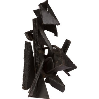 Brutalist Style Abstract Metal Sculpture Preview