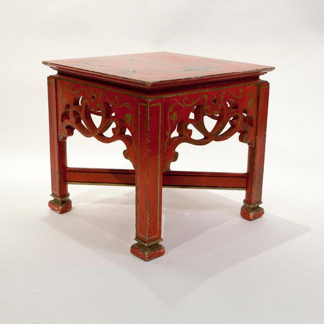 Red Chinoiserie Tables - A Pair - Image 2 of 5