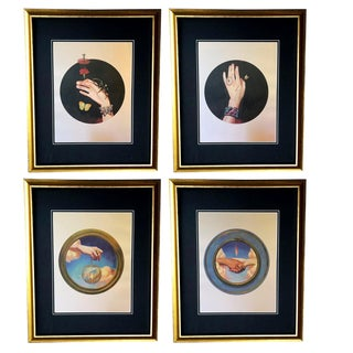 Framed Gucci Celestial Arrow Butterfly Spider Snake Illustration Art - Set of 4 For Sale